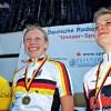 Siegerehrung mit Charlotte Bock (links) und Lisa Fischer (rechts)