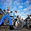 Gute Laune: Rad fahren mit den Mädels!!!